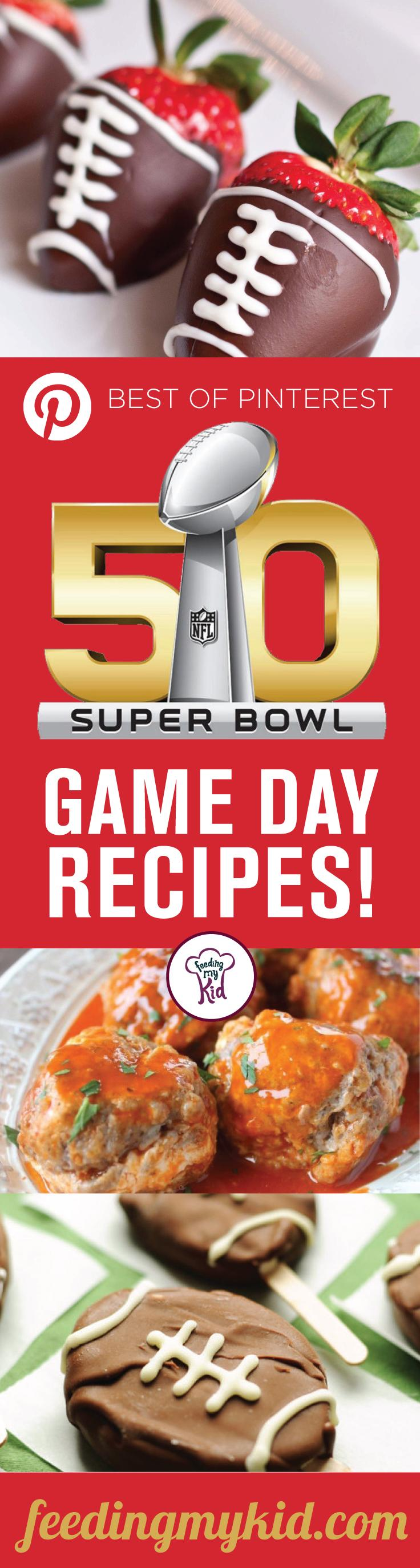 We've handpicked from Pinterest the easiest super bowl food recipes to make for your game day. These are easy and delicious!