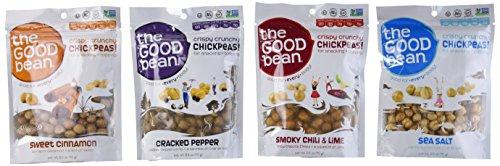 The Good Bean Crispy Crunchy Chickpeas Variety Pack Bundle of 4