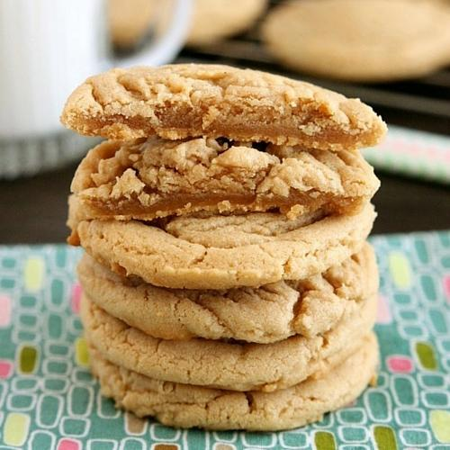 Thick And Chewy Peanut Butter Cookies