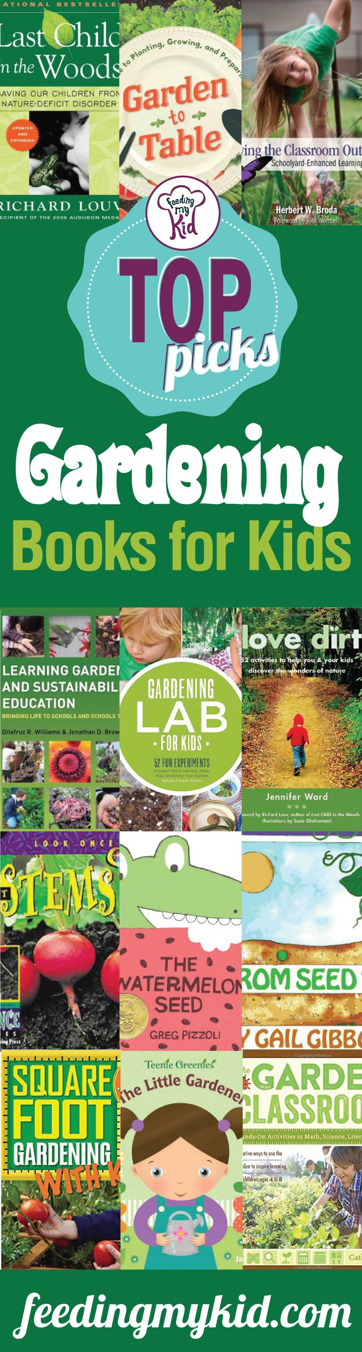 Top Picks: Gardening Books for Kids - Do you have a picky eater? No worries. The more exposure a child has to foods the more likely the child will be at eating these foods. So plant come carrots, green beans and peas and you'll soon see your child eating foods he normally wouldn't even touch. These books are the perfect inspiration you need to get your picky eater eating.