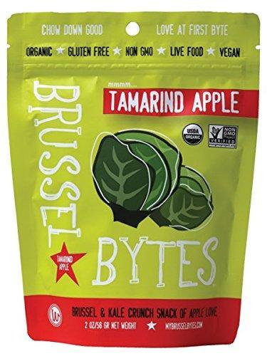 Wonderfully Raw Organic Brussel Bytes Tamarind Apple, 2 Ounce