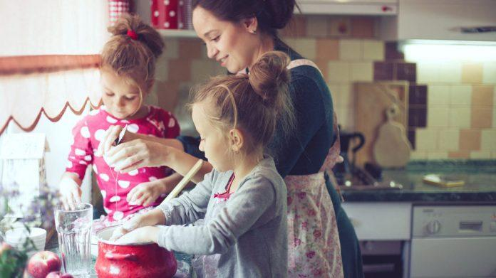Your child will learn what goes into the dinner by cooking a meal along side you. Cooking with kids is a great way to expose your kid to the foods he eats.