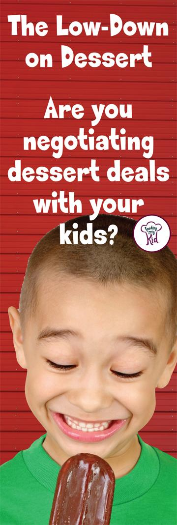 Great advice and pin worthy! How negotiating over dessert might be make your child's picky eating worse. #pickyeating #pickyeater #healthykids