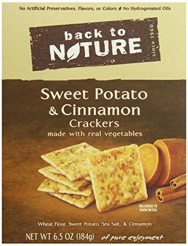 Back To Nature Crackers, Sweet Potato and Cinnamon, 6.5 Ounce