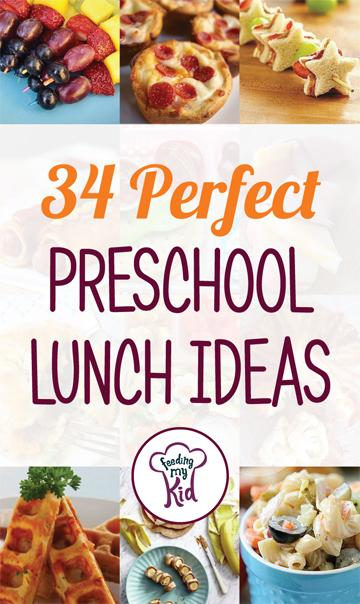 34 Perfect Preschool Lunch Ideas - From Minion shaped sandwiches and healthy homemade spaghetti-os to cheesy tuna bites and more! These great preschool lunch ideas are sure to please! This is a must share. #fmk #lunches #recipes