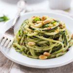 5 Minute Quinoa Pesto Zucchini Noodles