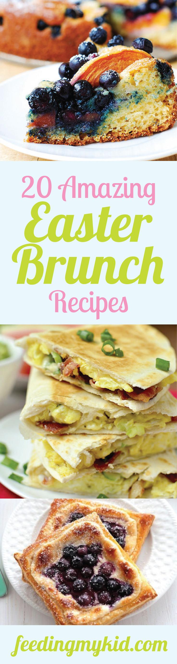 20 Amazing Easter Brunch Recipes - Easter is the perfect holiday to showcase your brunch making skills. We have the most amazing easter brunch recipes that the whole family will love. So celebrate with these great flavors. From skinny crunchy stuffed french toast to breakfast quesadillas. These are the perfect recipes for Easter brunch. The whole family will love these.