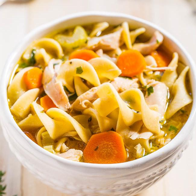 Over 20 Homemade Chicken Noodle Soup Recipes. So Yummy