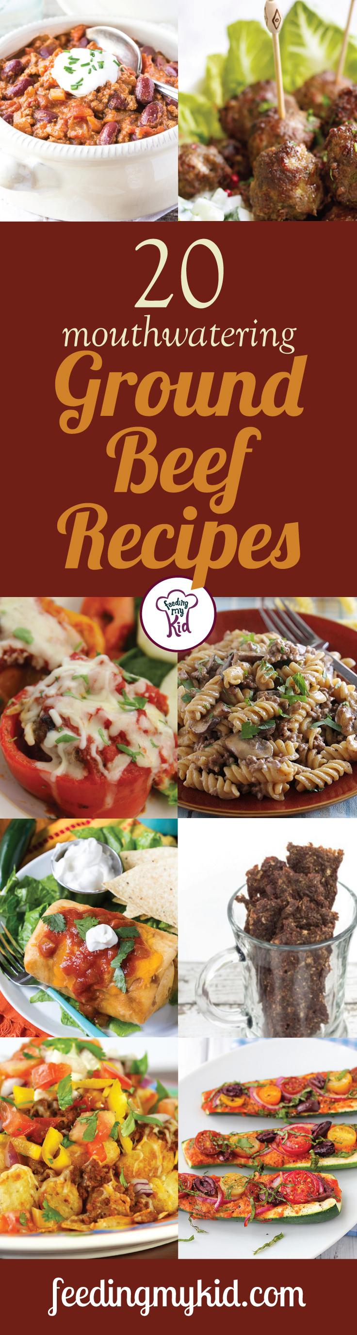 20 Mouthwatering Ground Beef Recipes - Beef can have many healthful benefits. It's high in iron, rich in protein and can be very filling. There are many different ways you can cook up beef; there are tons of ground beef recipes to pick from. That's why we put together this list of recipes just for you. From sweet potato ground beef pie to bakes cilantro meatballs; these recipes are sure to please even the pickiest of eaters.
