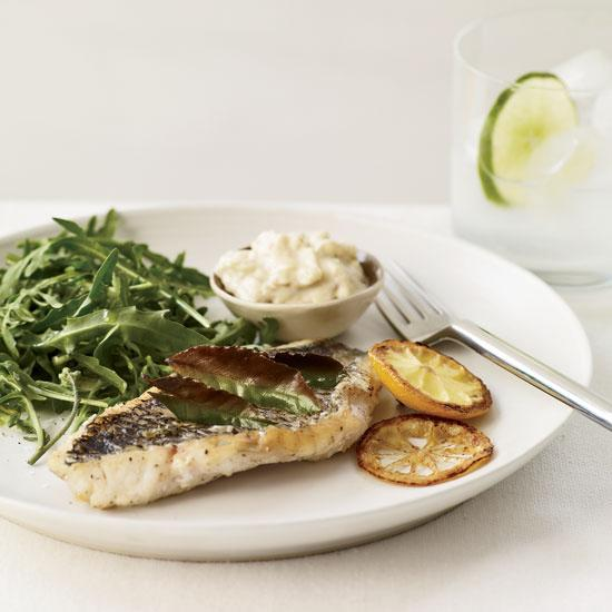 Herb Broiled Fish With Lemon Aioli
