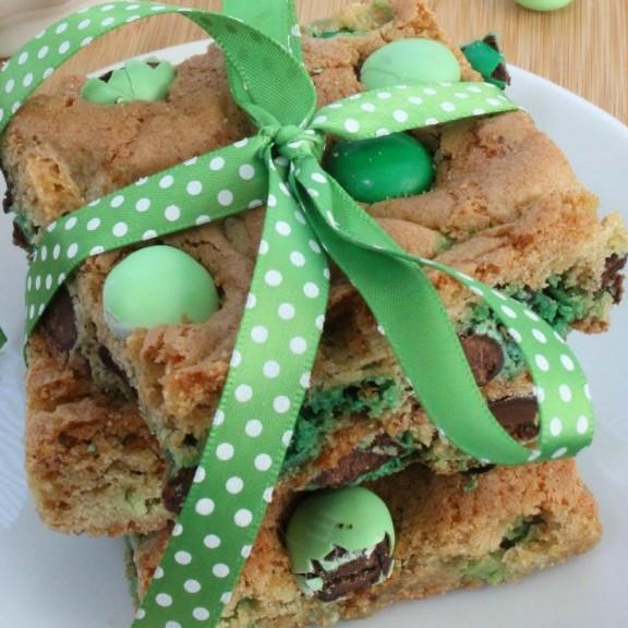 Mint Blondie Bars Recipe