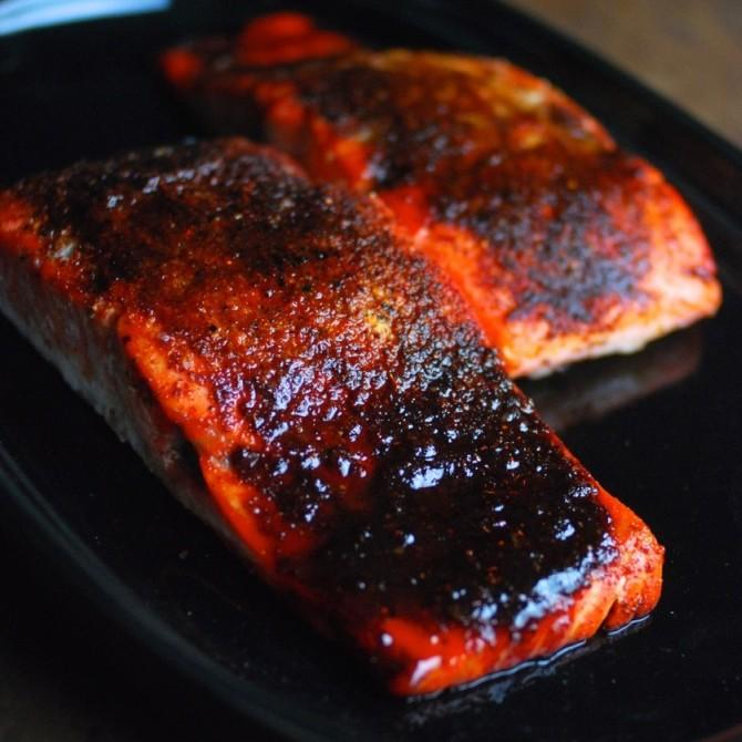 Oven Roasted Maple BBQ Salmon