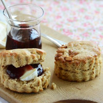PB&J Scone Sandwiches With Brie