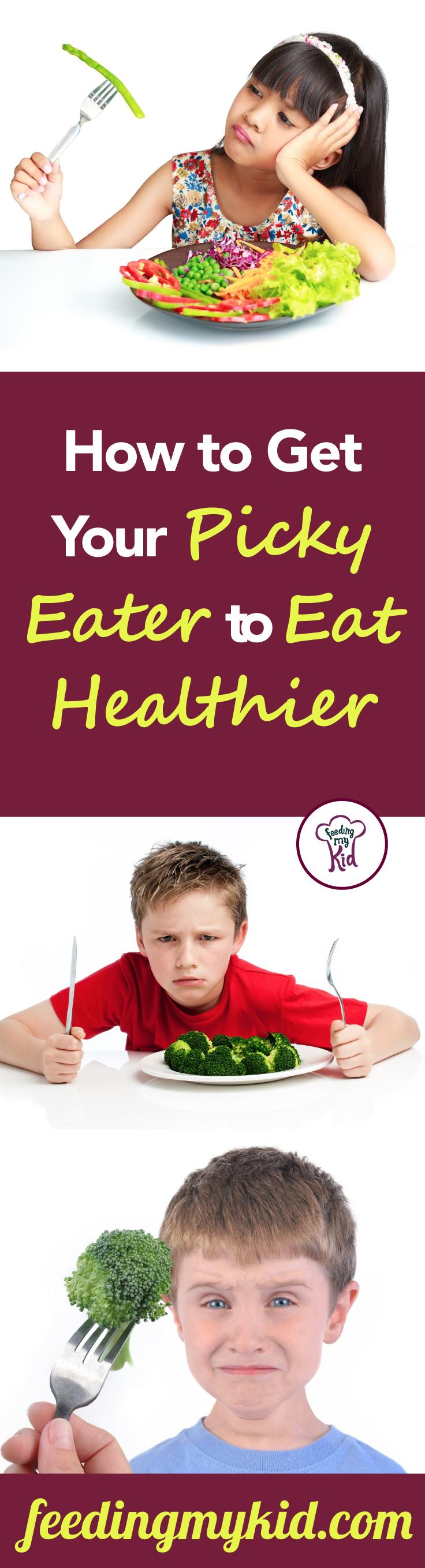How to Get Your Picky Eater to Eat Healthier - When it comes to picky eating there are a number of ways to combat it. These methods require a lifestyle change. So get started today by planting a garden, cooking with your kids or creating healthy pre-made snacks! You won't regret it! Read more here!