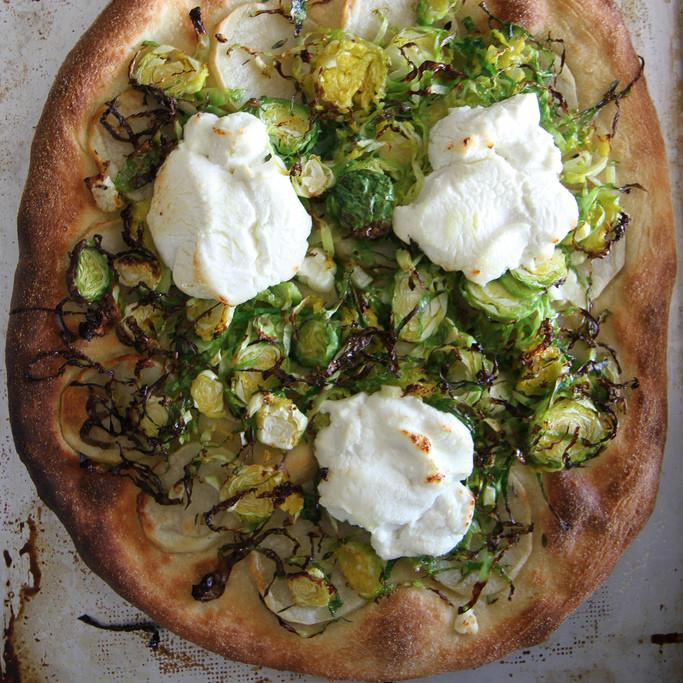 Potato And Brussels Sprout Pizza