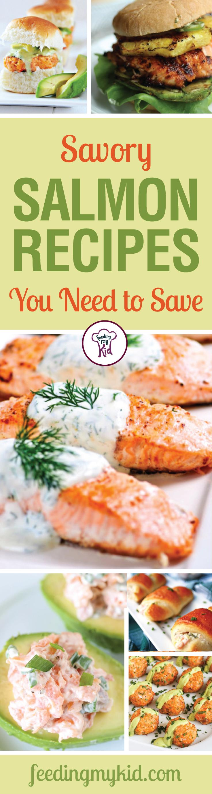 Savory Salmon Recipes You Need to Save! - Try these amazing recipes! From a Ginger Garlic Baked Salmon Recipe to a Smoked Salmon Spread Recipe; these are sure to please even the pickiest of eaters!
