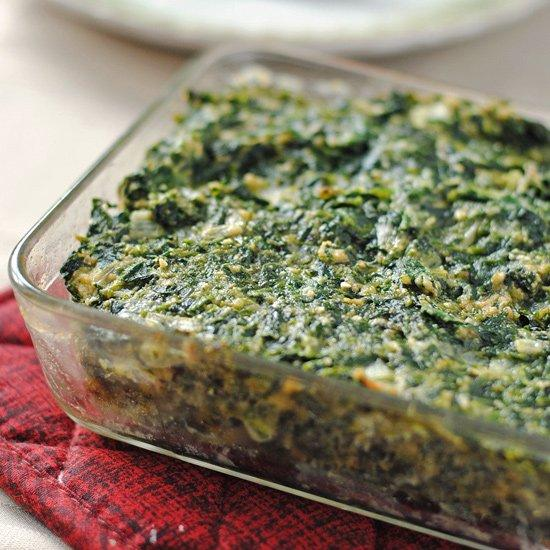 Spinach Vegetable Kugel. Make these Jewish recipes at your next dinner party! These are perfect for large gatherings celebrating all the Jewish holidays.