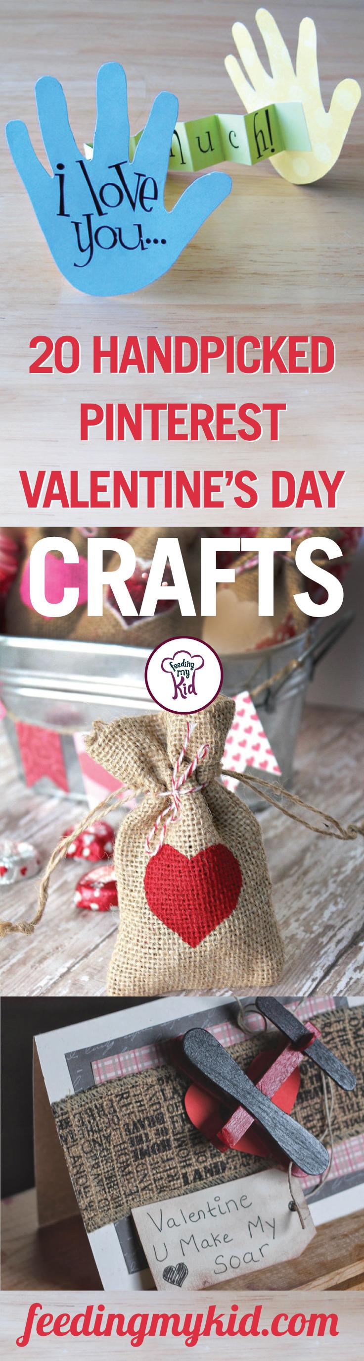 20 Handpicked Pinterest Valentine's Day Crafts - This Valentine's Day, why don't you do arts and crafts with your kids! Try these amazingly simple Valentine's Day crafts that we handpicked just for you; from valentine's day wind chimes to a little minion. These crafts are perfect to make with your kids!