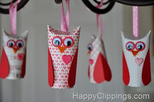 Valentine Paper Roll Owls