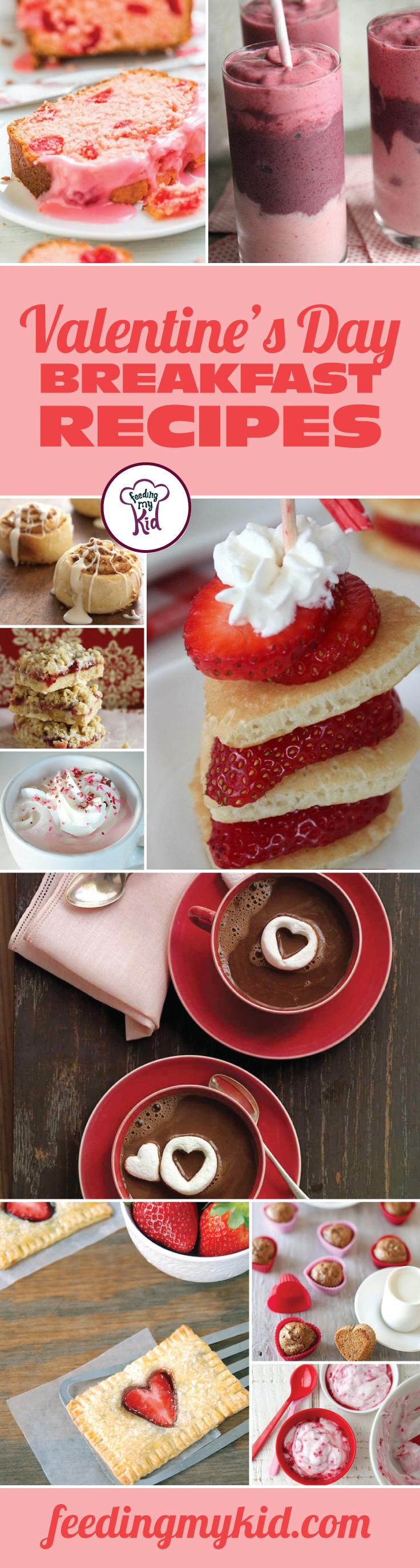 Valentine's Day Breakfast Recipes - Why not start your Valentine's Day off right with these amazing breakfast recipes. From heart pancake skewers to a strawberry coconut breakfast pie; these early morning treats are perfect for your Valentine's Day breakfast.