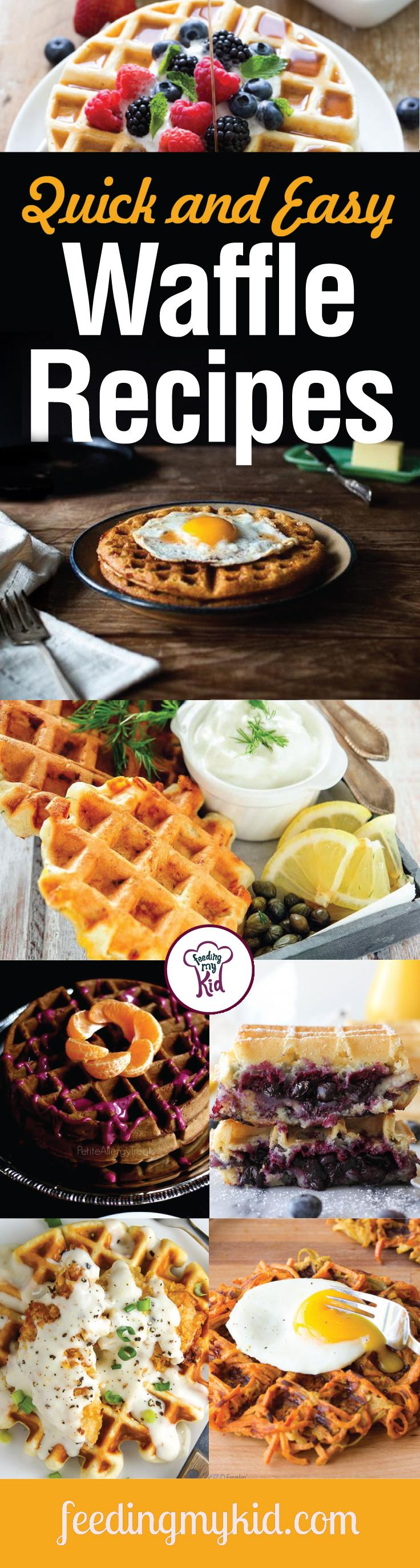 Quick and Easy Waffle Recipes - Whether it's breakfast, brunch, lunch, dinner or a late night snack, waffles are good just about anytime. Waffles can be served with syrup, fruits, eggs or, for the adventurous type, chicken. From a Monte Cristo waffle sandwich to waffle iron hash brown breakfast potatoes; these recipes are sure to please! Give them a go!