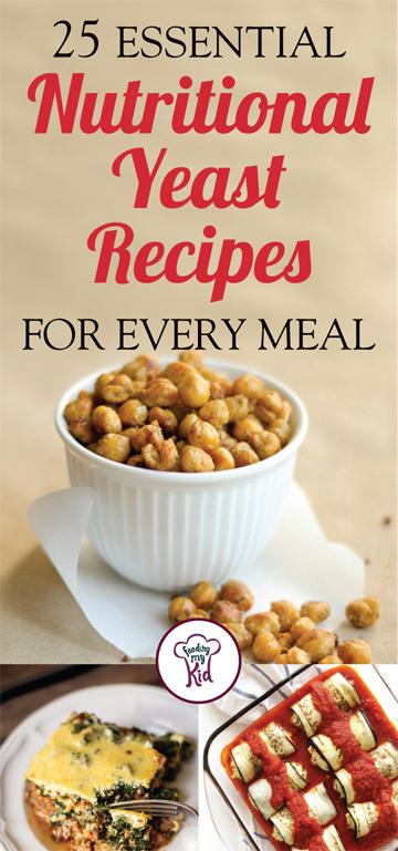 """25 Essential Nutritional Yeast Recipes for Every Meal - Nutritional yeast (sometimes call """"nooch"""") has many benefits and uses. It can be a cheese substitute, a salt replacement and a great gravy for any meal that requires—well, gravy. Nutritional yeast is rich in nutrients. This unknown superfood is good for cholesterol levels, helps to increase energy levels and a good food to ward off anemia."""