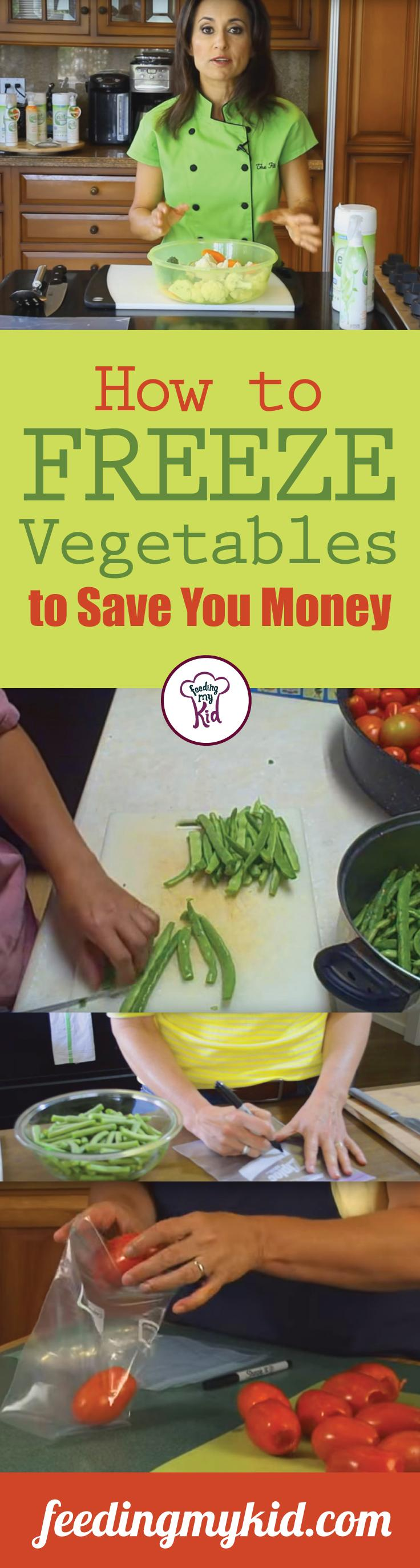 How to Freeze Vegetables to Save Money - Vegetables are especially easy to freeze. Check out these videos. These short and informative tutorials will answer all of your questions about how to freeze vegetables! This is a must share! #fmk #freeze #savemoney