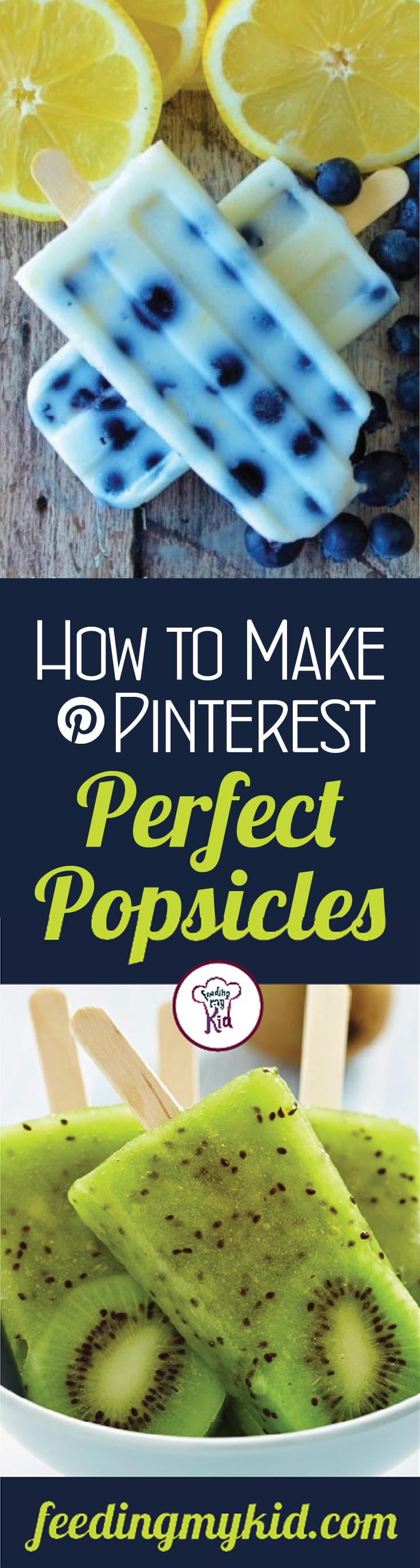 Pinterest Perfect Homemade Popsicles - Want a frozen treat but you don't know how to make your own popsicles? Freeze right there! We've got you covered! From Chia Coconut Pudding Pops to Cucumber Raspberry Pops; these are perfect for the whole family!