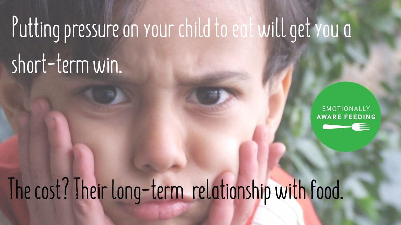 Under pressure: why pressurising kids to eat is never a good idea - We all understand that the there is a fundamental contradiction at the heart of the feeding relationship - as parents, we are driven to pressure our picky eaters to eat but that pressure actually brings about the opposite result and does damage to a child's long term relationship with food.