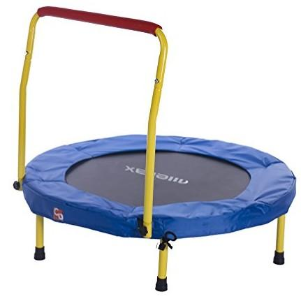 "36"" Folding Mini Trampoline With Handle"