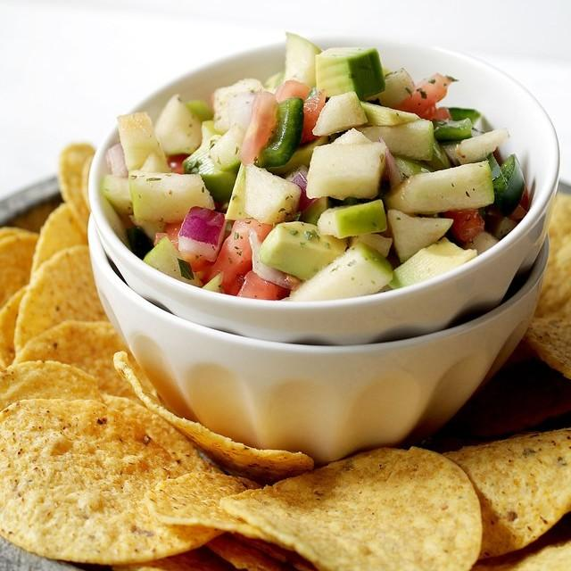 Apple Avocado Salsa With Honey Lime Dressing