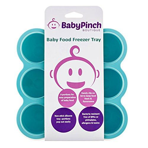 Baby Pinch Boutique Silicone Freezer Tray with Clip-on Lid for Baby Food Storage