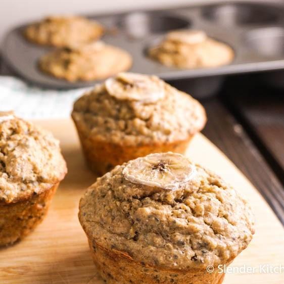 Banana Quinoa Chia Muffins