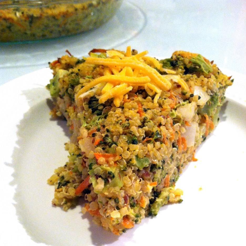 Broccoli Cheddar Quinoa Pie