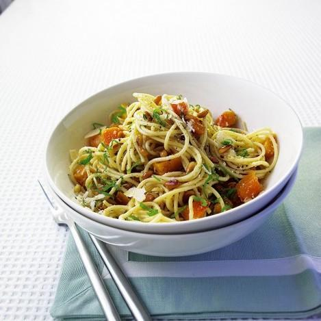Butternut Squash, Parmesan And Pine Nut Spaghetti