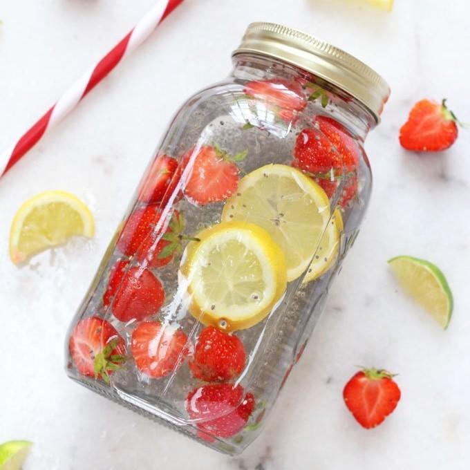 Chia Fruit Water