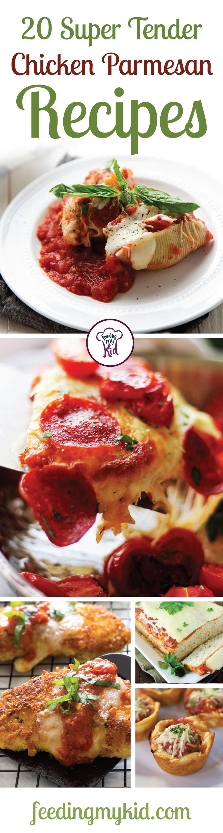 20 Super Tender Chicken Parmesan Recipes - This is a must share! Chicken parmesan always makes for a great meal, whether it's a nice lunch or a fancy dinner. These recipes are perfect to showcase your great cooking skills. From 20 minute healthy chicken parmesan or crescent wrap chicken parmesan! The whole family will love these! This is a must pin! #fmk #recipes