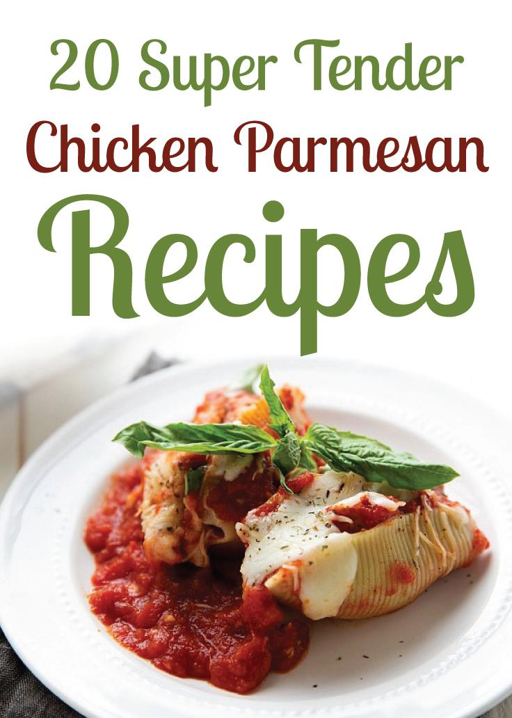 20 Super Tender Chicken Parmesan Recipes - These recipes are perfect to showcase your great cooking skills. From 20 minute healthy chicken parmesan or crescent wrap chicken parmesan! The whole family will love these! This is a must pin! #fmk #recipes
