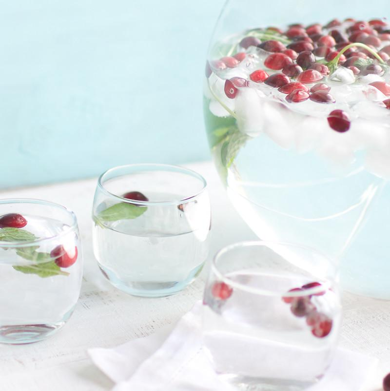Cranberry Mint Water