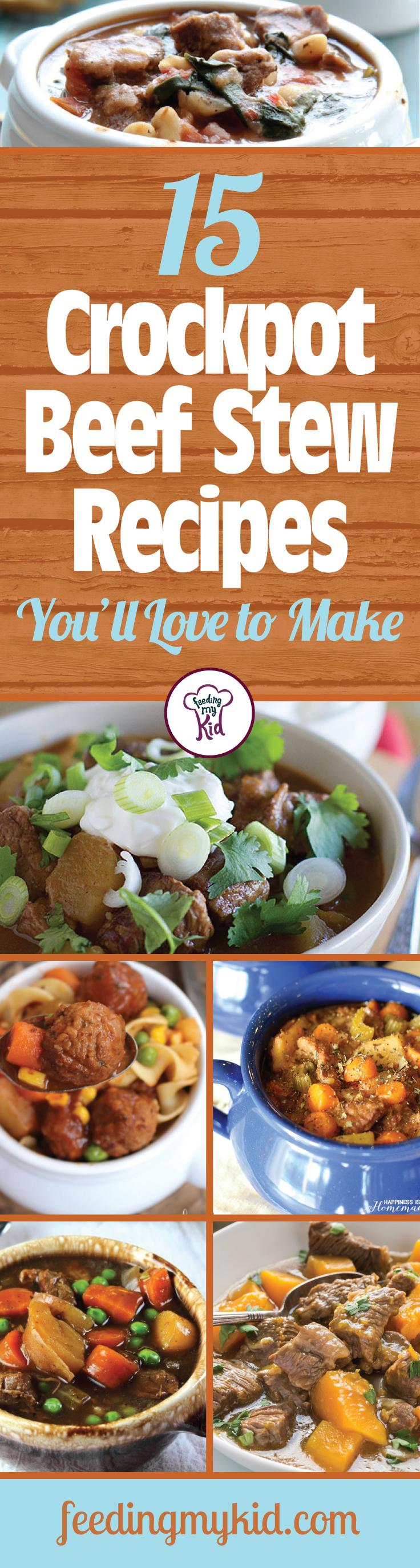 15 Crockpot Beef Stew Recipes You'll Love to Make - Here at Feeding My Kid, we're looking out for you. We've handpicked these great beef stew crockpot recipes for their simplicity and taste. These meals take little time to prepare, just let the crockpot do the rest. From ranch beef stew to beef vegetable barley stew, these recipes are perfect for everyone! This is a must share! #fmk #recipes #beefstew