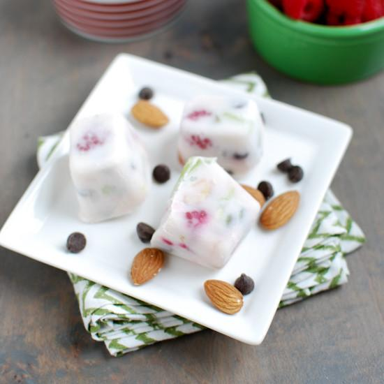 Frozen Yogurt Trail Mix Bars