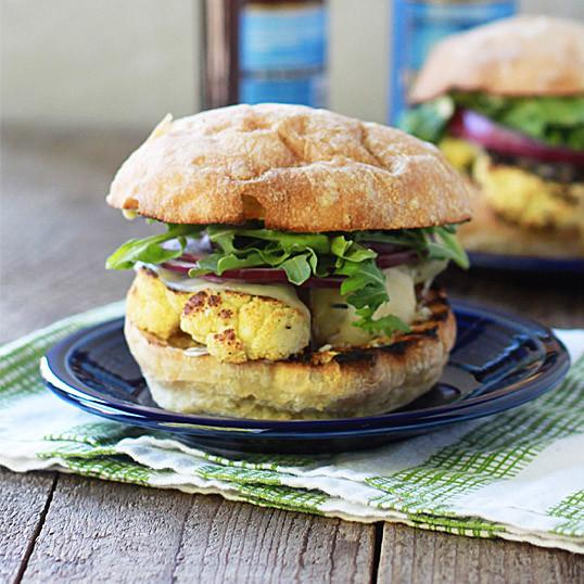 Grilled Cauliflower Steak Burgers