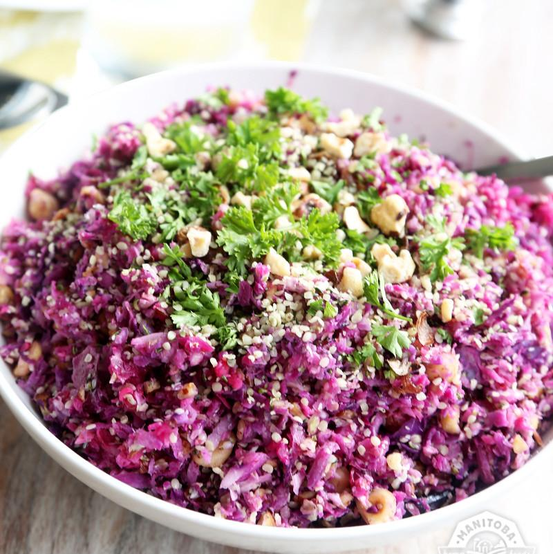 Hazelnut and Hemp Slaw