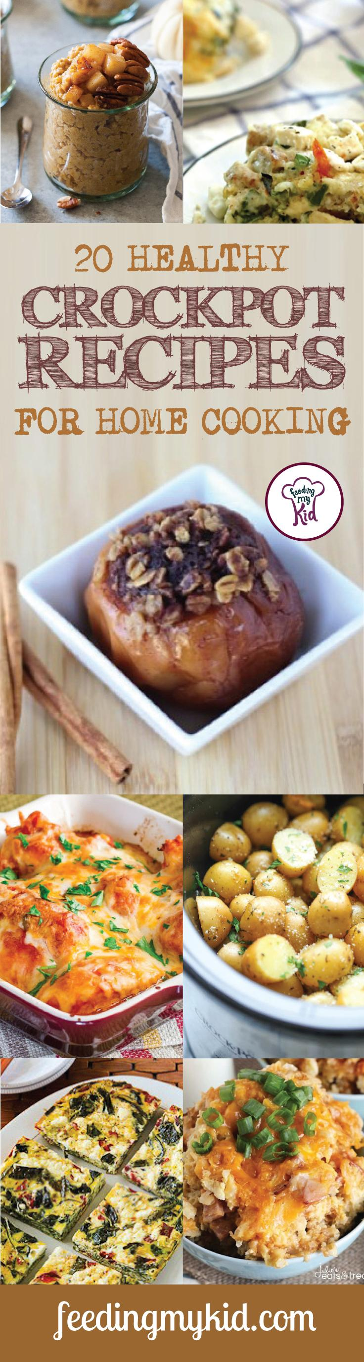 20 Healthy Crockpot Recipes for Home Cooking - These are a must share and must pin! Easy to cook, timely to make and great to eat, these healthy crockpot recipes will make you keep wanting more. From a crockpot pumpkin spice oatmeal recipe to a crockpot healthy sausage mediterranean quiche, these recipes are sure to please even the pickiest of eaters. #fmk #recipes #crockpot