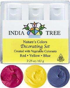 India Tree Natural Decorating Colors, 3 bottles