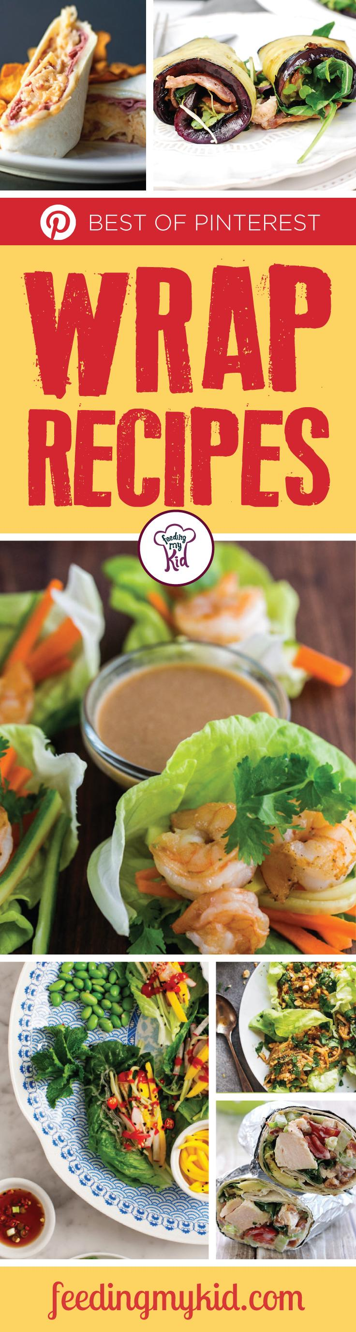 The Best of Pinterest Wrap Recipes - This is a must share! Wraps make a great snack or a perfect meal. They're low in carbs, usually high in protein and extremely tasty. Whether a wrap is served with fries, salad or potato salad; they make for a great meal! From a bacon lettuce avocado tomato chicken salad wrap to a roasted vegetable humus wrap; these are perfect to eat! #fmk #recipes
