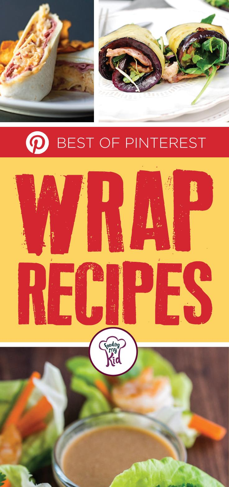 The Best of Pinterest Wrap Recipes - This is a must pin! With these handpicked Pinterest recipes, we have the best wraps that are easy to make and quick to serve! From a bacon lettuce avocado tomato chicken salad wrap to a roasted vegetable humus wrap; these are perfect to eat! #fmk #wraps #recipes