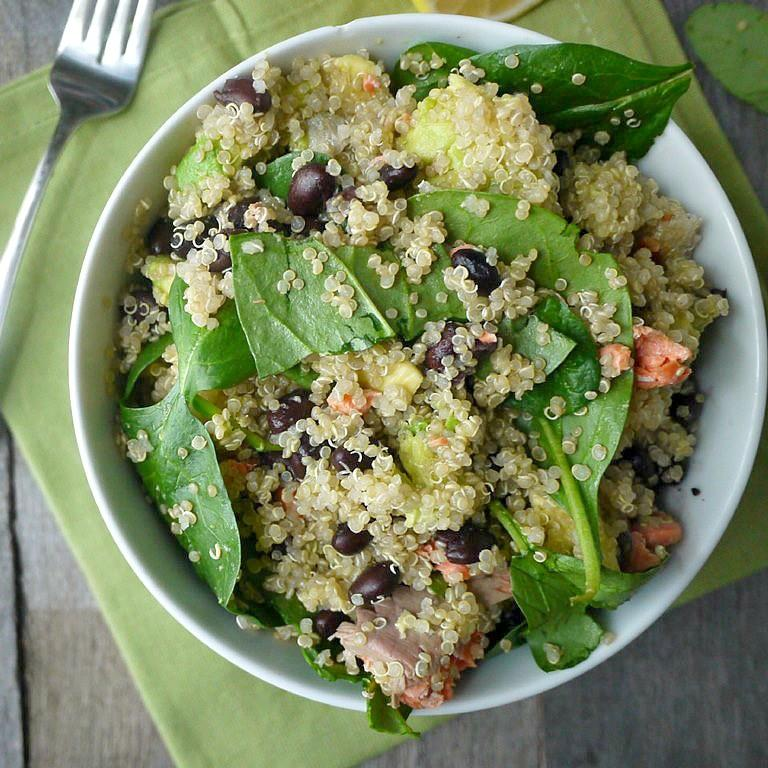 Salmon And Spinach Quinoa Salad