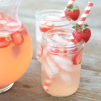 Simple Sugar Free Strawberry Lemonade