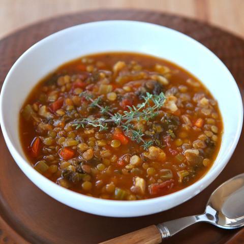 Slow Cooker Lentil Cauliflower Stew
